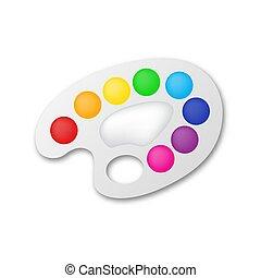 illustration., -, artist's, palette, vecteur