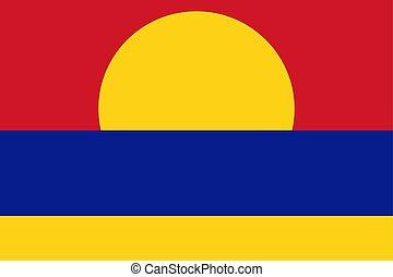 illustration., atoll., vlag, vector, wereld, palmyra