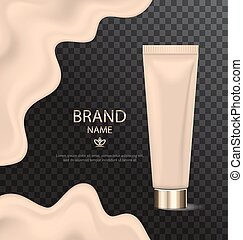Attractive Texture of Foundation, Glossy Cosmetic Product