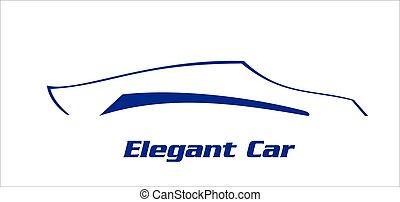 illustration., automobile, race., elegante, automobile., modifica