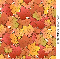 Autumn Seamless Texture of Maple Leaves