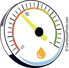 illustration, av, a, motor, gas mätare