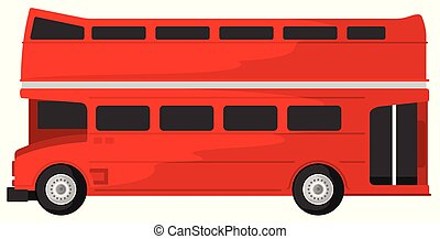 illustration, av, dubbel decker buss