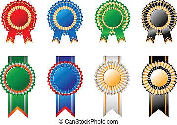 Illustration award ribbon rosettes for your design