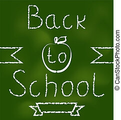 Back to school background with text