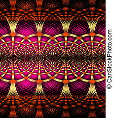 illustration background abstract bright fractal geometric pattern
