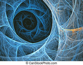illustration background fractal abstraction with sea space