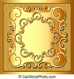 background frame with gold pattern and texture