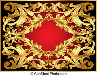 background frame with gold  pattern