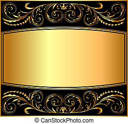 illustration background pattern gold on black