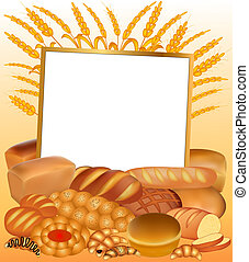 background with a set of bread