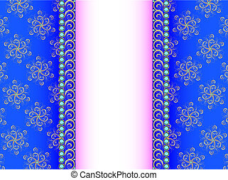 illustration background with a strip of precious stones and ornaments of gold