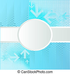 background with circle for text and arrows
