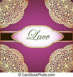 background with gold lace and place for text - illustration...