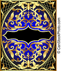 background with gold pattern