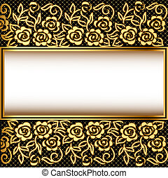 background with gold(en) pattern and net - illustration...