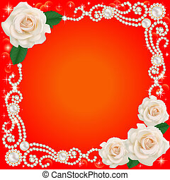 background with jewelry and wedding flower - illustration...