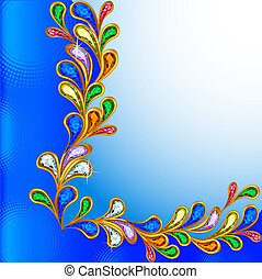 background with precious stones and circles