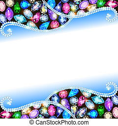 background with precious stones and space for text -...