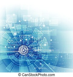 illustration, baggrund, vektor, digital teknologi, fremtidsprægede