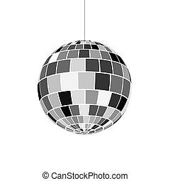 illustration, balle, 70s., disco, vecteur, vie nocturne, icon., partie., retro