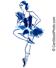 illustration ballerina dance
