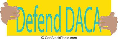 Illustration Banner Defend DACA