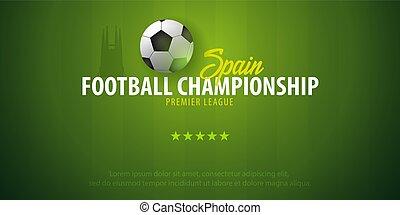 illustration., banner., football, championship., france, vecteur, conception, football, ou, ball.