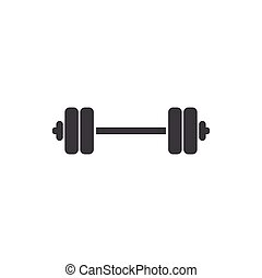 illustration, barbell, design, mall, logo, ikon
