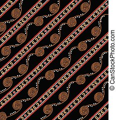 Illustration based on aboriginal style of dot pattern.