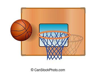 Illustration basketball basket