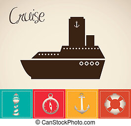 illustration, bateau