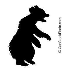 illustration bear on white background