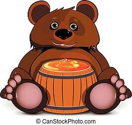 Bear with a Barrel of Honey