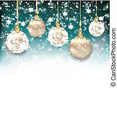 Beautiful Celebration Card with Christmas Balls