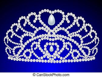beautiful diadem feminine wedding on we turn blue