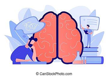 illustration., begrepp, alzheimer, sjukdom, vektor
