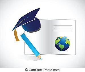 illustration, begrepp, utbildning