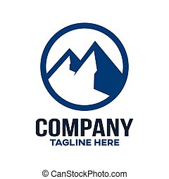 illustration., bergen, moderne, vector, logo.