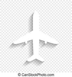 illustration., biały, znak, tło., vector., cień, miękki, ...