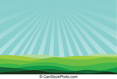 illustration blue sky