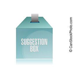 illustration, boîte suggestion, conception