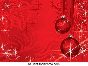 (illustration), bola, natal