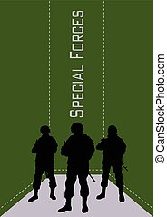 Illustration, booklet, special forces soldiers..eps