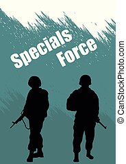 Illustration, booklet, special forces soldiers.eps