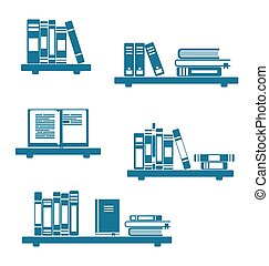 Books on Bookshelves - Illustration Books on Bookshelves ...