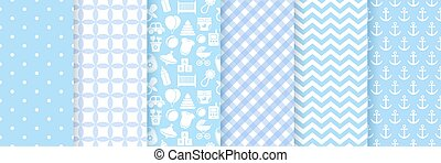 illustration., boy., seamless, シャワー, パターン, ベクトル, 赤ん坊