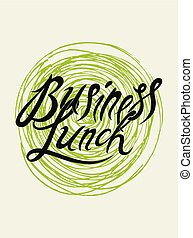 illustration., business, menu restaurant, calligraphic, déjeuner, vecteur, vendange, design.