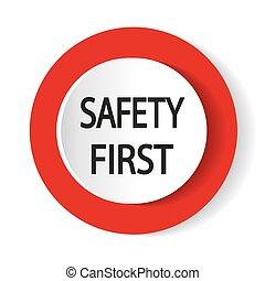 illustration., button., vettore, sicurezza, internet, icon., primo
