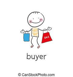 illustration., buyer.